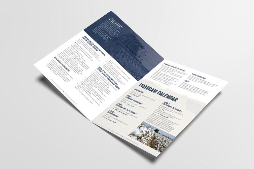 Cotton Leaders program A4 flyer