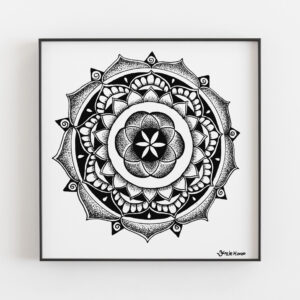 personalised mandala in frame